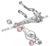 Mitsubishi Outlander CW5W - 2.4 Petrol (06/2007+) - Rear Suspension Arm Bush Kit (1 Side)